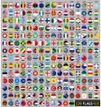 220 flags of the world circular shape vector