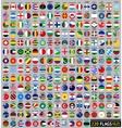 220 flags of the world circular shape vector