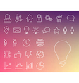 Simple modern thin icon collection vector