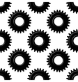 Black seamless gears or cogwheels pattern vector
