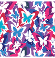 Abstract seamless pattern with colorful butterfly vector