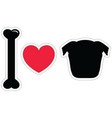 I love pugs in black plain vector