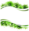 Abstract green flowers vector