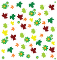 Leaf and flower background color vector