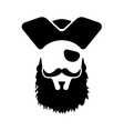 Pirate mascot head vector