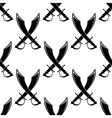 Crossed swords or cutlass seamless pattern vector