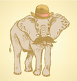 Elephant hat vector
