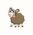 Cartoon sheep character for christmas and new year vector
