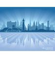 Glasgow scotland skyline city silhouette vector