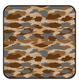 Desert camouflage button vector