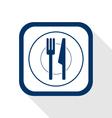 Cutlery flat icon vector