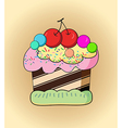 Cartoon cake vector
