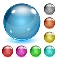 Multicolored opaque glass spheres vector