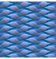 Curled blue waves seamless vector