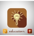 Icon education vector