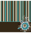 Hand draw flowers on striped background vector