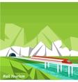 Rail tourism vector