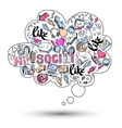 Doodle social media infographics vector