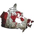 Canadian map grunge mosaic vector