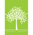 White tree vector
