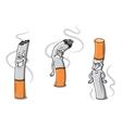 Cute cartoon cigarettes characters vector