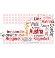 Austria map vector