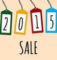 Sale card 2015 on price tags vector