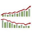 Business finance chart graph vector
