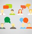 Talking people vector