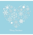 Heart of the snowflakes vector