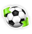 Ball green ribbon 10 v vector