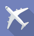 Airplane icon modern flat style with a long shadow vector