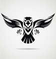 Hawk bird tribal vector