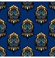 Abstract damask floral seamless pattern vector