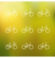 Bicycle signs set of simple bike icons vector