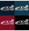 Lacrosse vision design template vector