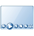 Multimedia player controls vector