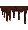 Chocolate drips vector