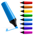 Realistic multicolored markers vector