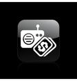 Radio buy icon vector