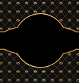 Vintage black background with golden elements vector