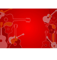 Abstract acoustic guitar background vector