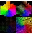 Set of multicolored mosaic abstract background vector