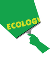 Cleaning for ecology vector