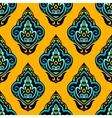 Colorful damask seamless floral design vector