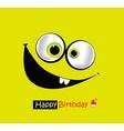 Happy birthday smile vector