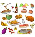 Restaurant food vector