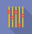 Volume equalizer icon modern flat style with a vector
