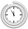 Clock face icon vector
