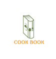 Cook book design template vector